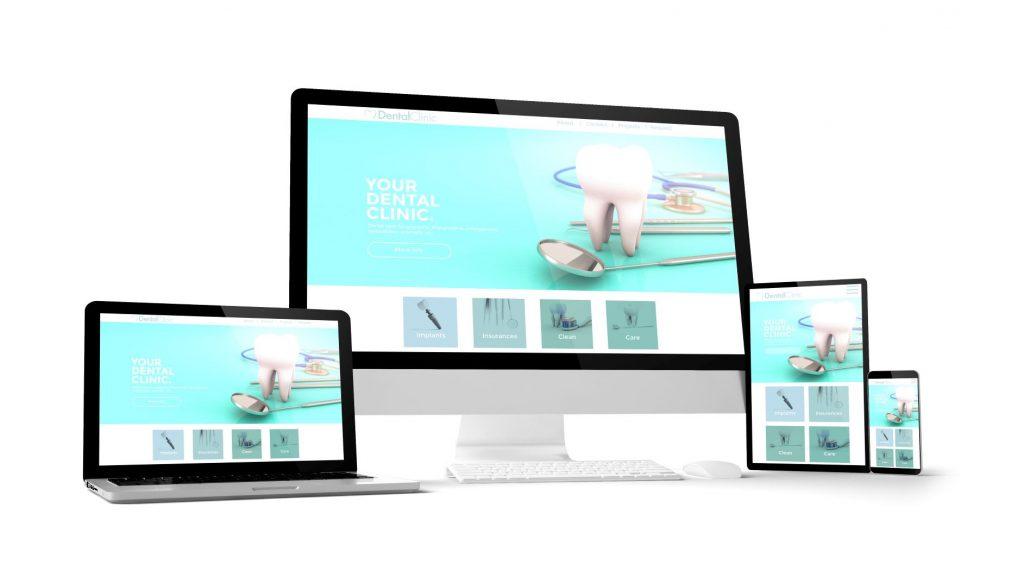 responsive design of website of a dental practise