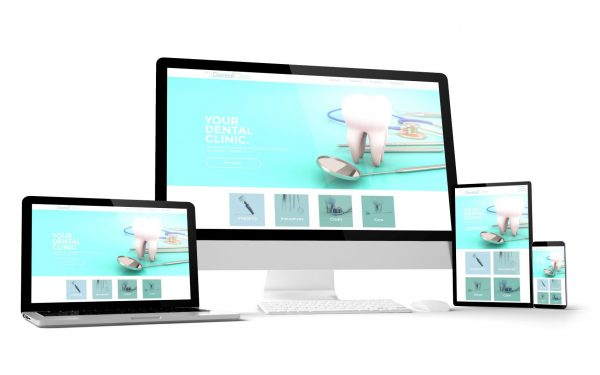 responsive design of website of a dental practise