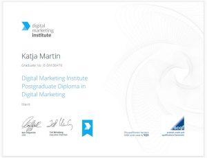 Certificate Digital Marketing Institute