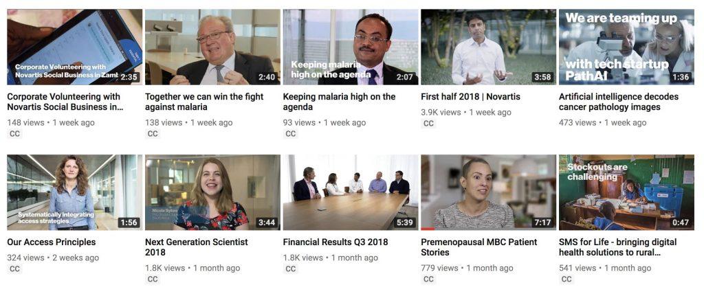 youtube videos Novartis