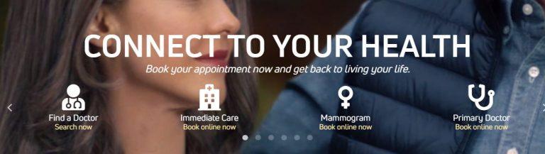 advocate healthcare illinois homepage printscreen