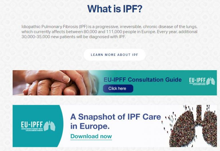 Call-to-action of IPFF Care