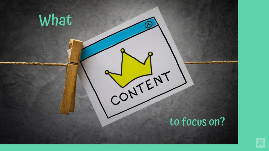 Types of content to focus on blog cover