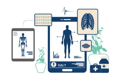 Medical Device Software flat vector design