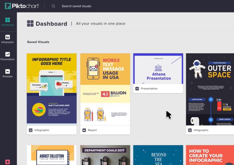 Screenshot of Piktograph Dashboard