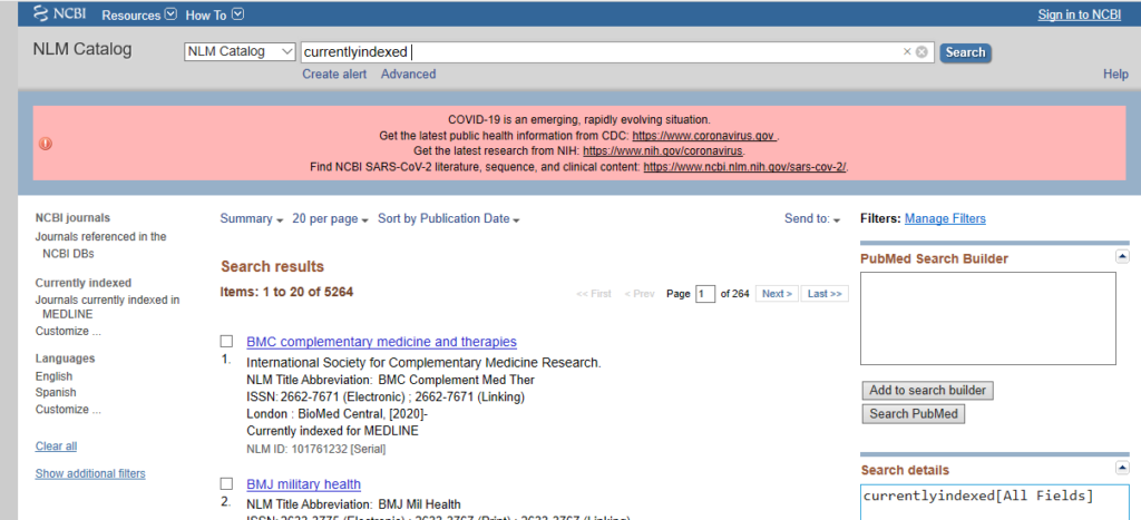 Search Result List PubMed