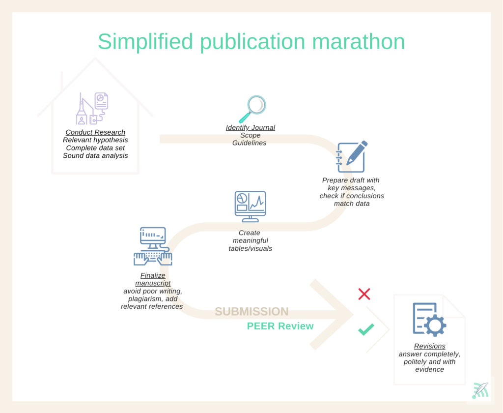 process of writing a publication from research idea to manuscript