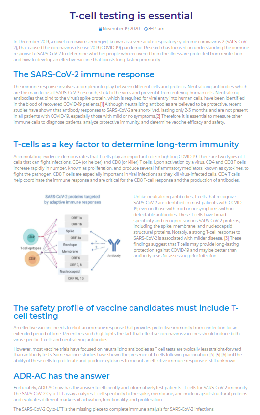 T-cells are a key factor in determining long term immunity | Medtextpert