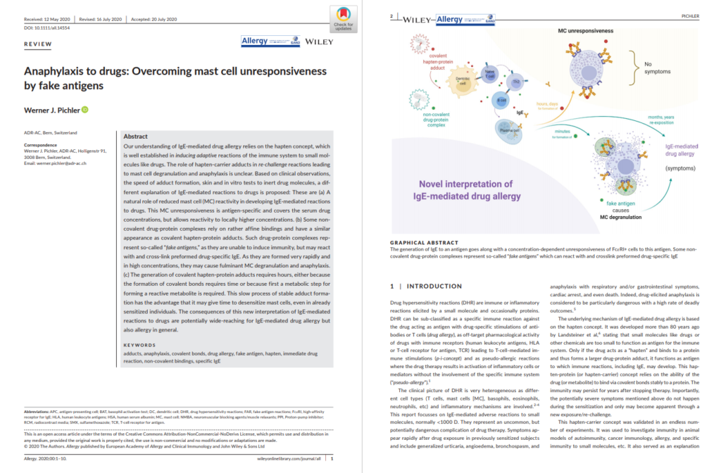 Overcoming mast cell unresponsiveness by fake-antigen | Medtextpert