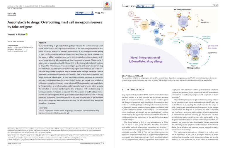 Overcoming mast cell unresponsiveness by fake-antigen | Medtextpert