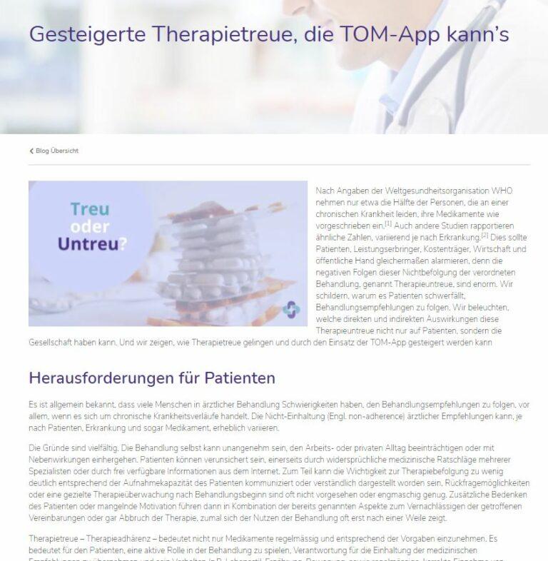 TOM Medications blog post